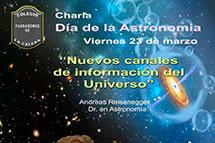 Charla: Nuevos canales de información del Universo